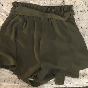 Lush Shorts - Beautiful olive green shorts NWT